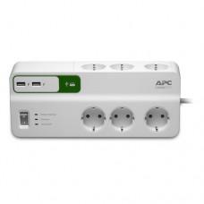 APC Essential SurgeArrest 6 prize 230V cu 2 porturi USB încărcare