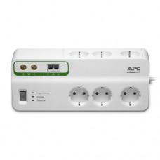 APC Home/Office SurgeArrest 6 prize 230V cu protecţie telefon & coaxial