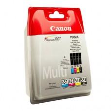 Canon CLI-551 Multi C/M/Y/BK pachet 4 cartuşe cerneală