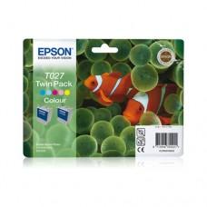 Epson T027 pachet 2 cartuşe cerneală color