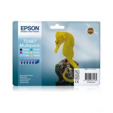 Epson T0487 pachet 6 cartuşe cerneală
