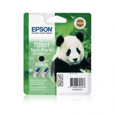Epson T0501 pachet 2 cartuşe cerneală neagră