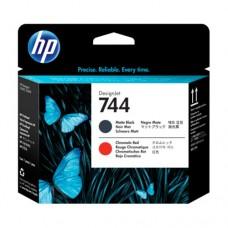 HP 744 cap imprimare negru mat / roșu cromatic