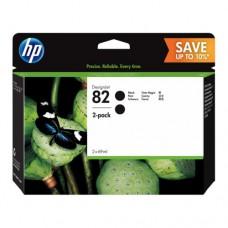 HP 82 pachet 2 cartuşe cerneală neagră 69ml