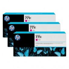 HP 771C pachet 3 cartuşe cerneală magenta 775ml