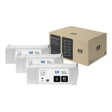 HP 81 pachet 3 cartuşe cerneală neagră 680ml