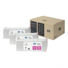 HP 81 pachet 3 cartuşe cerneală magenta 680ml