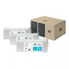 HP 83 pachet 3 cartuşe cerneală cyan 680ml