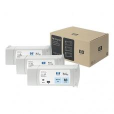 HP 83 pachet 3 cartuşe cerneală cyan deschis 680ml