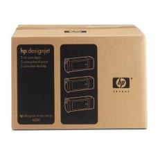 HP 90 pachet 3 cartuşe cerneală neagră 775ml