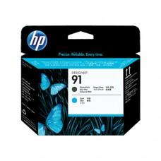 HP 91 cap de imprimare negru mat şi cyan