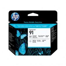 HP 91 cap de imprimare negru foto şi gri deschis