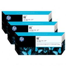 HP 91 pachet 3 cartuşe cerneală gri deschis 775ml