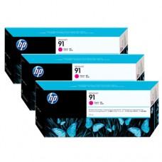 HP 91 pachet 3 cartuşe cerneală magenta 775ml