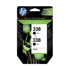 HP 338 pachet 2 cartuşe cerneală neagră
