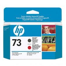 HP 73 cap de imprimare negru mat şi roşu cromatic