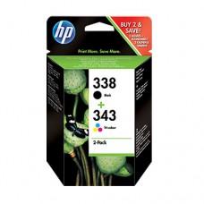 HP 338/343 pachet 2 cartuşe cerneală