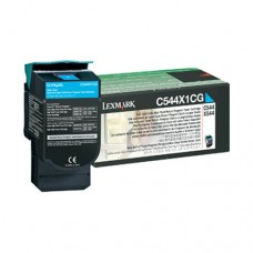 Lexmark C544X1CG cartuş toner cyan