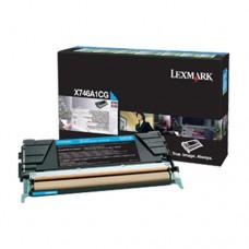 Lexmark X746A1CG cartuş toner cyan